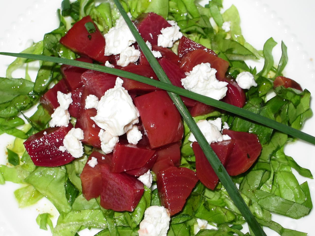Beets with feta