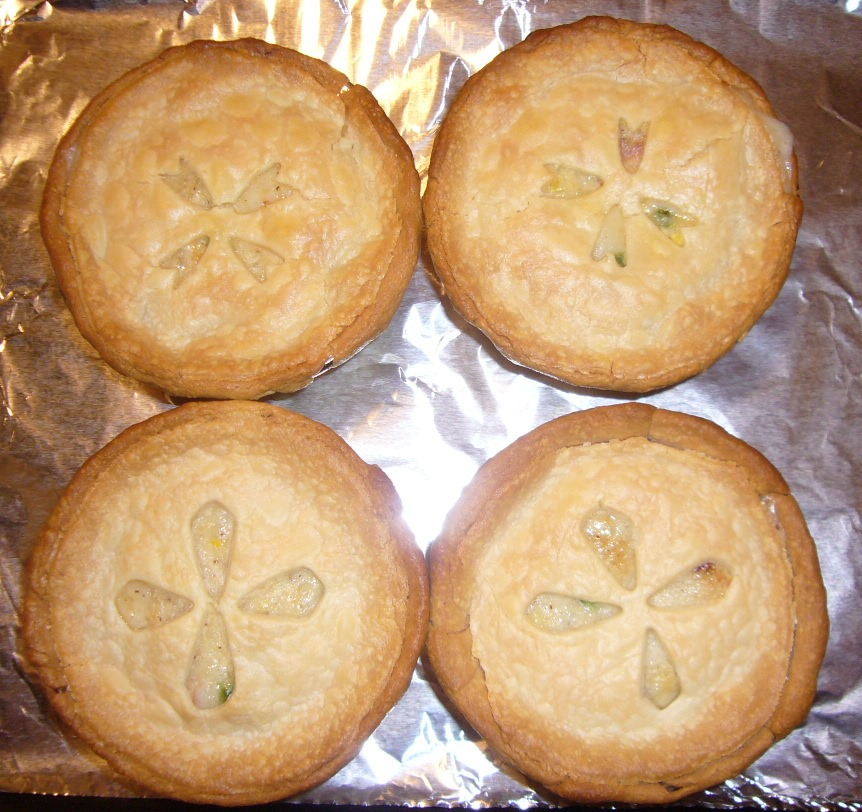Chicken Pot Pie after Baking