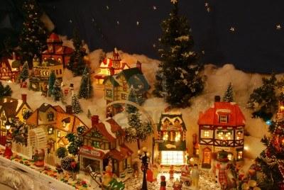 mini christmas village